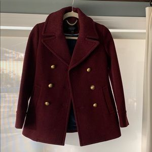 Jcrew Magenta pea coat